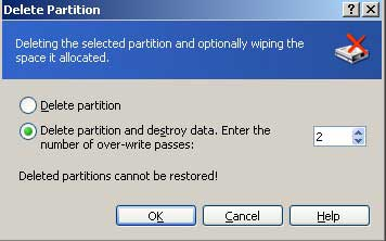 Delete single partition