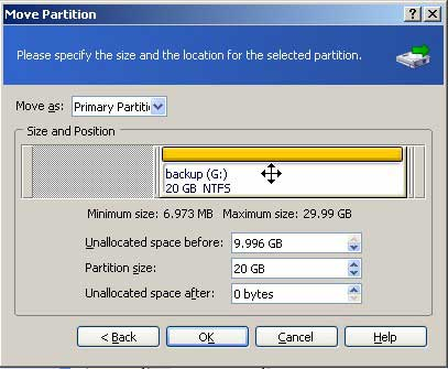 Move partition