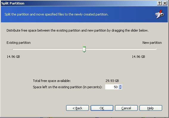 Specify partition size