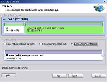 Edit partition size