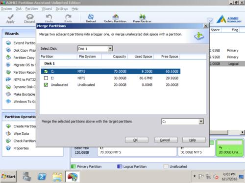 Select partition