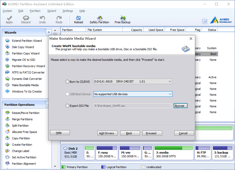 Partition magic boot CD, bootable disk and iso image.