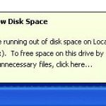 How to solve drive low disk space problem?