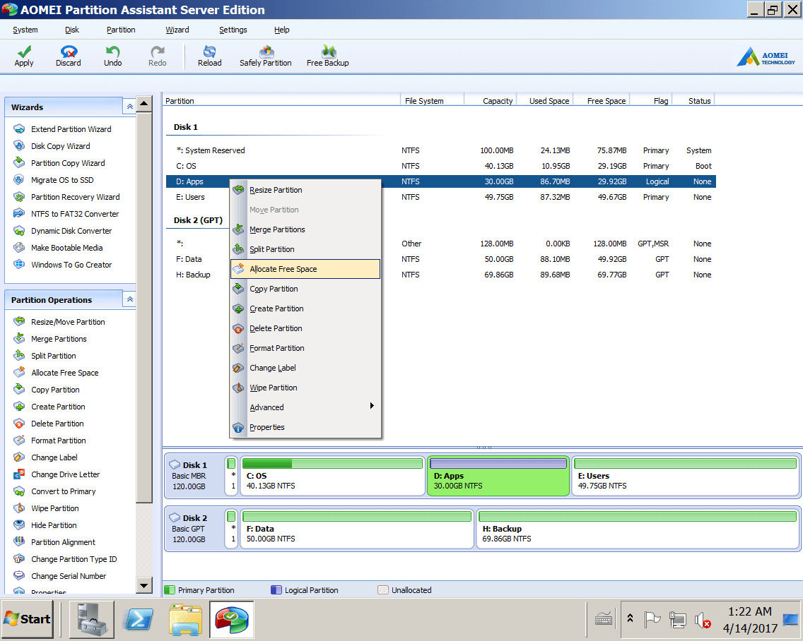 how to repartition hard drive windows 7