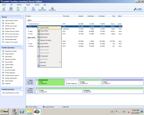 Increase partition size