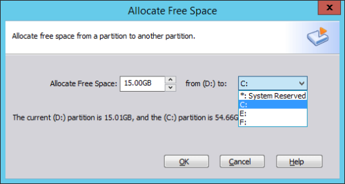 Add space to C