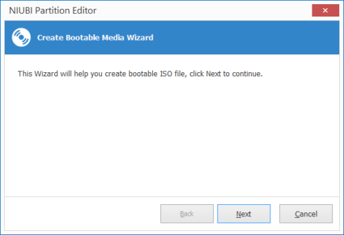 Create bootable wizard